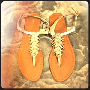 Gorgeous crystal Madeline Stuart bling sandals 8.5